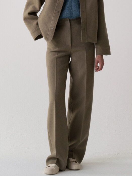 wool cutting pants (khaki beige)