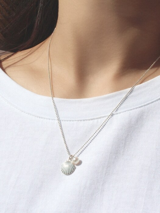[SILVER] SS PEARL PENDANT N