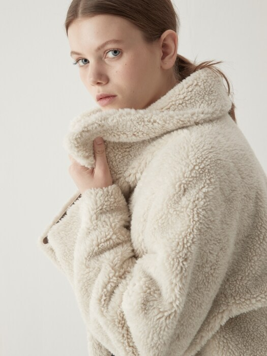 Reversible wool mustang - Cream