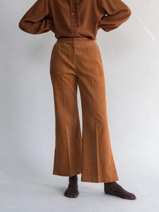Corduroy Wide Pants /Orange Brown