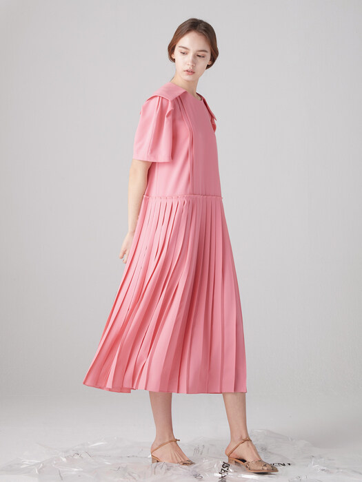 Twee sailor collar dress - Pink