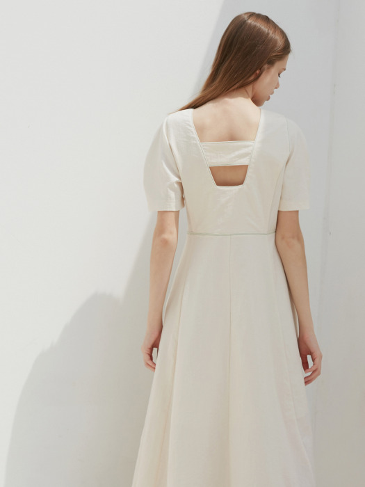 BACKLESS STITCHED OP_CREAM