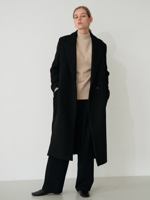 modern wool coat (black)