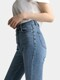 W3 Long Slit Straight Denim Pants_Midium Blue
