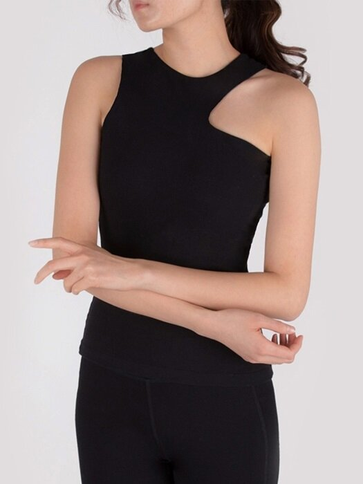 Curve Tank Top-Black