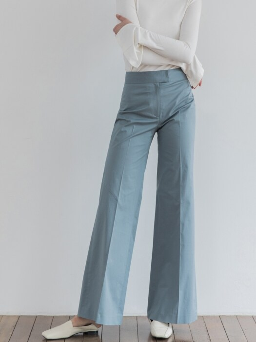 [19SS]Bootscut Wide Cotton Pants