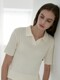 ouie313 cotton collar knit 2colors