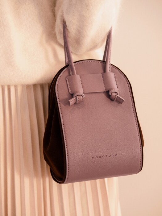 N U shoulder bag (Taupe pink)