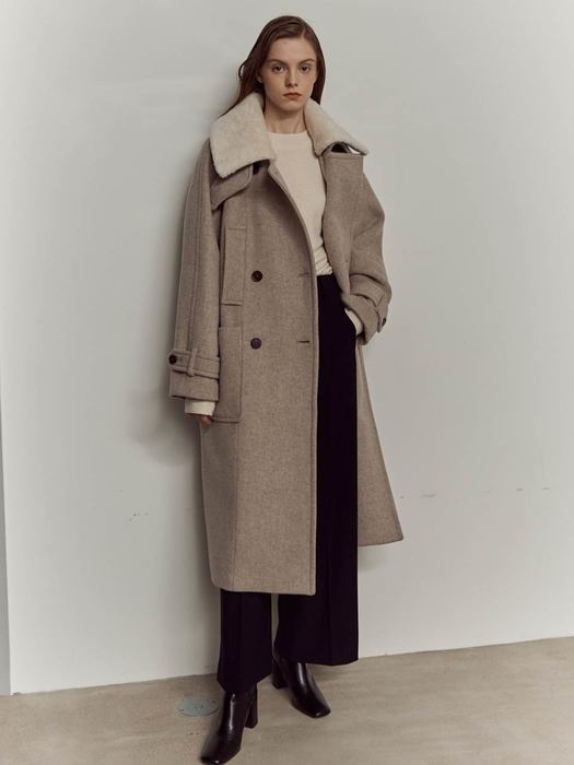 Over fit double coat SW0WC403_3color