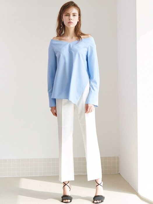 STRAIGHT-LEG TROUSERS WHITE