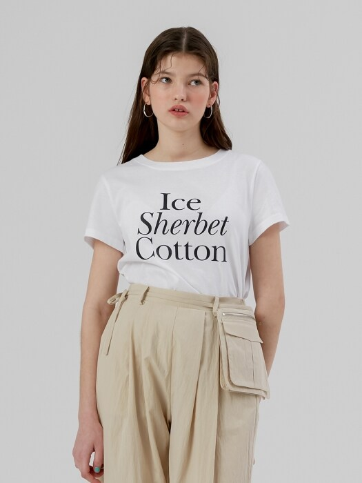 Ice Sherbet Cotton T Shirt [White]