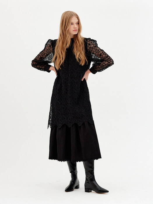 IN THE SEOUL LACE DRESS (BLACK)