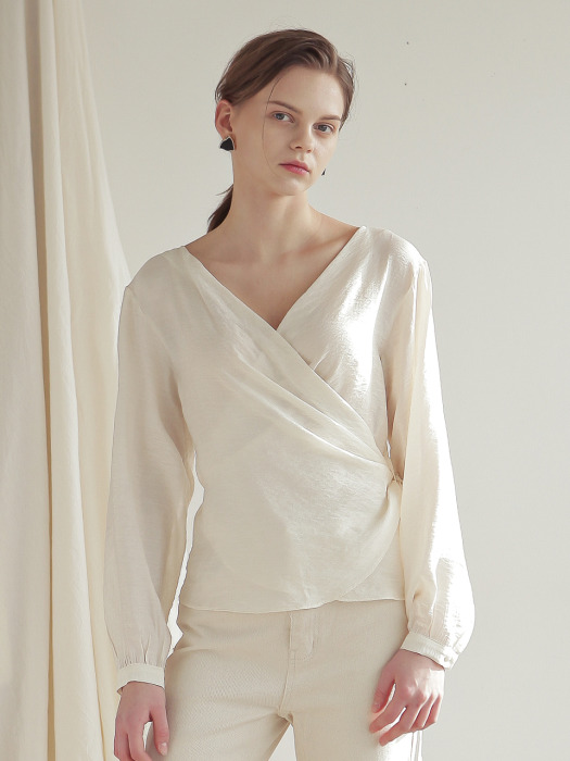 WRAP BLOUSE_IVORY