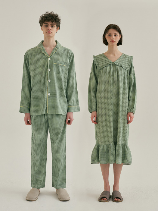 (모달) (Couple) Peppermint Pajama Set + One-Piece