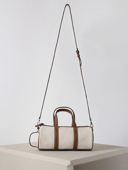BARREL MINI TOTE CANVAS BAG - TAN
