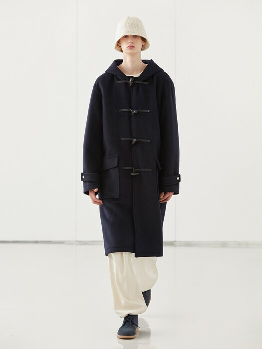 WOOL DUFFLE COAT_NAVY