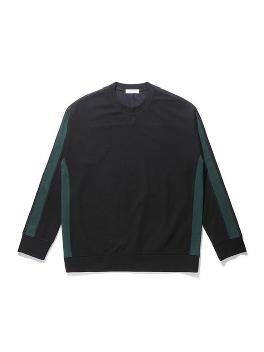 blocking sweat shirt_CWTAS21112BKX