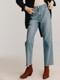 Mid-rise Regular Belted Jeans_Blue