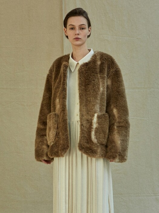 19FW FUR COAT - BROWN