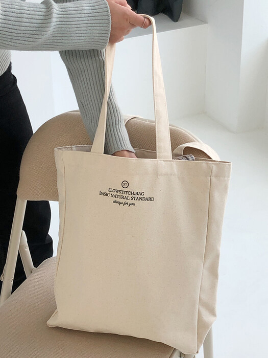 square canvas bag ( ivory )