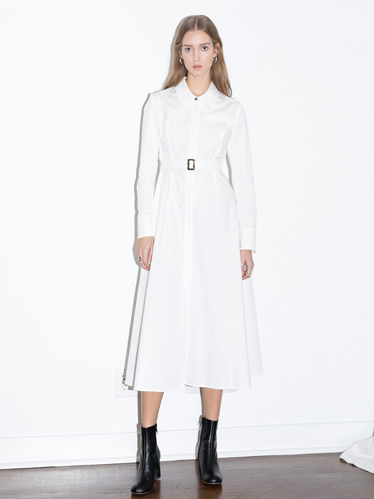 [20SS]SANTA MONICA a line classic shirt dress (Off white)