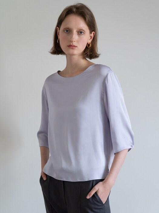 19FW HALF-SLEEVE TOP (LIGHT PURPLE)