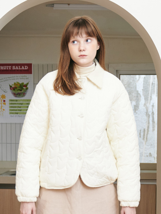 FENNEC FOX PADDING JACKET [IVORY]