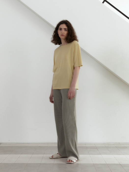 21S PLEATS BANDING PANTS (SAGE GREEN)