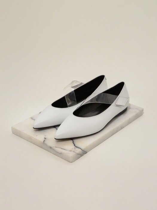 [EXCLUSIVE] Clear Velcro Flat-Shoes_MM021_WT