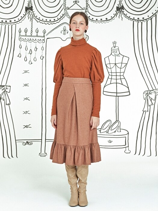 Grece Full Skirt _ Brown