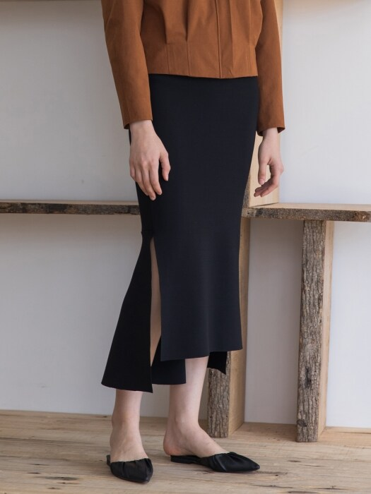 [19SS]Mermaid Asymmetric Skirt
