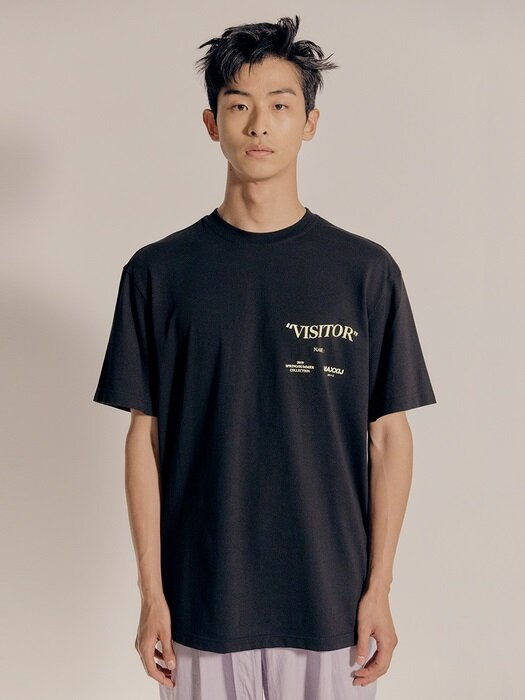 'Visitor' T-shirt Black (Genderless)