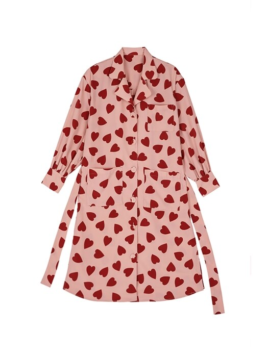 Big lovers robe blouse - Pink
