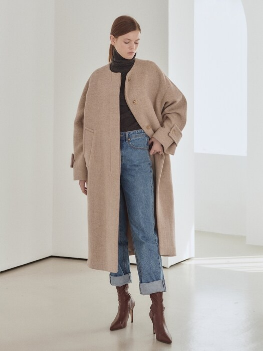 19WN collarless slit coat [O/BE]