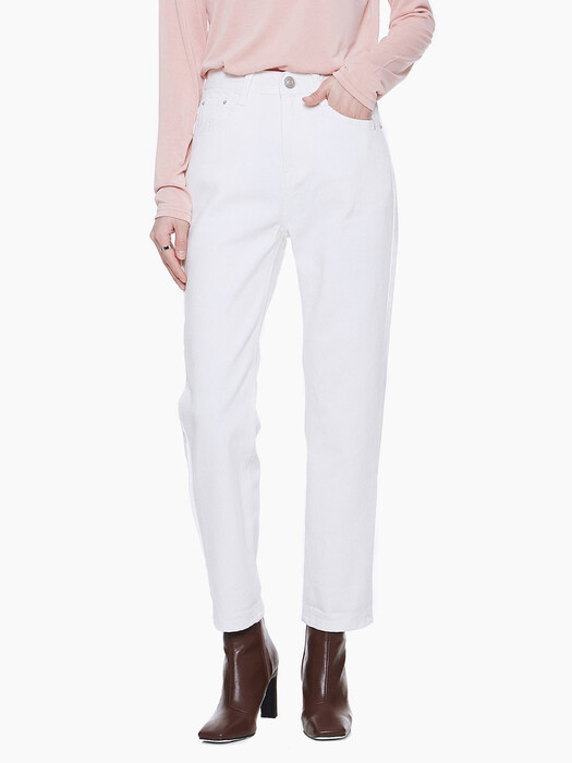 LW013 STRAIGHT COTTON PANTS_IVORY
