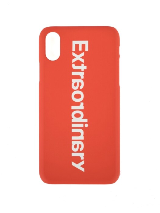 BASIC LOGO I-PHONE CASE ORANGE/WHITE