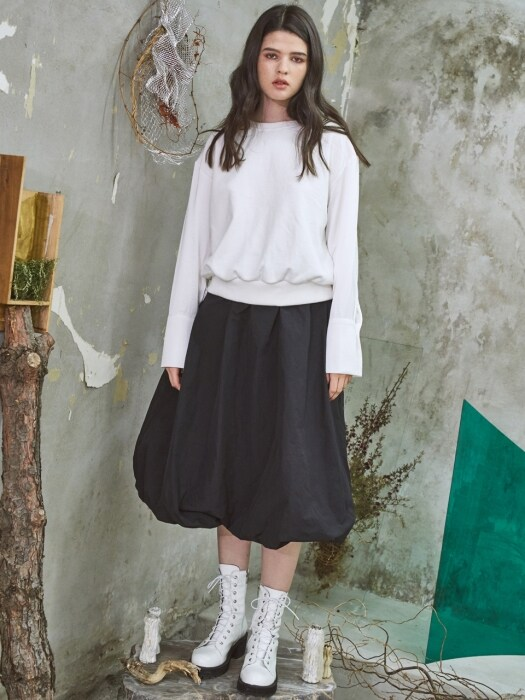 Relax Balloon Skirt Black