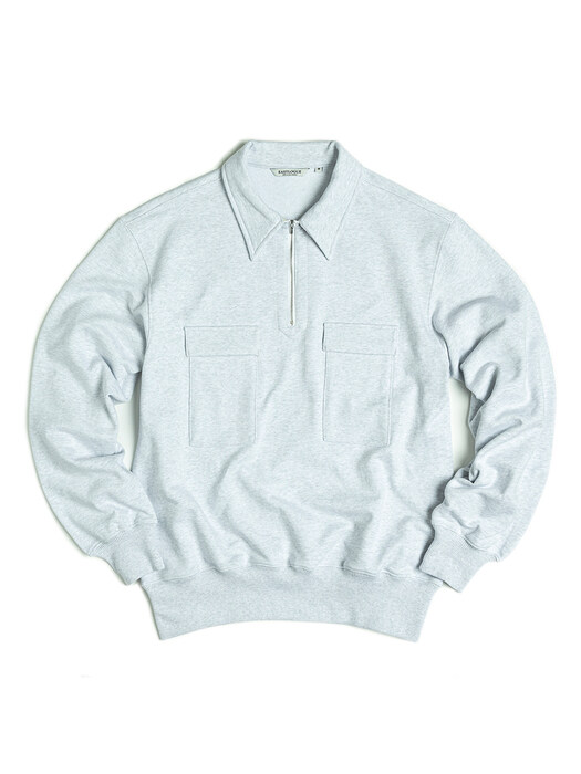 SCOUT PULLOVER SWEAT / WHITE MELANGE