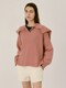 Cashmere blended sailor pullover - 2 colors (Dusty coral/Navy)