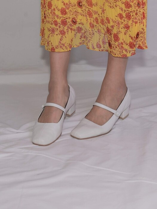 Kathy Maryjane shoes White