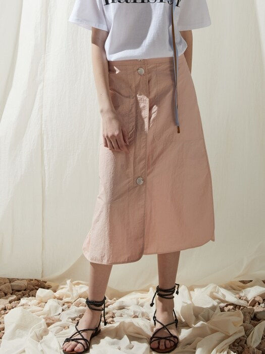 Banding a line skirt - Indi pink