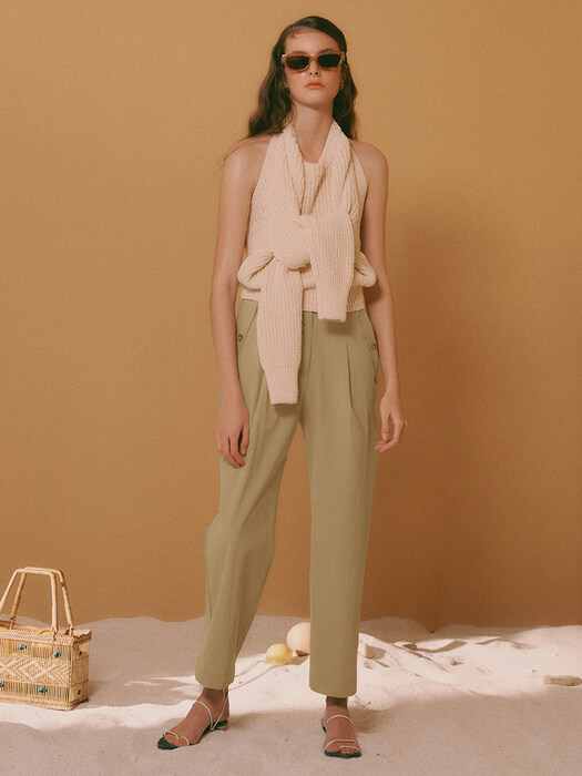 [Cotton Resort] Summer One Tuck Pants