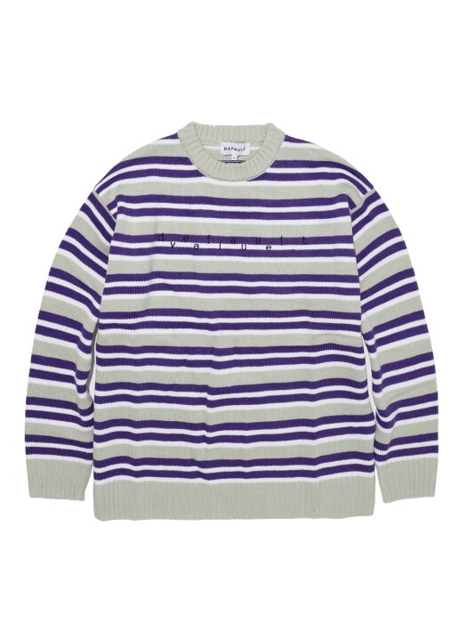 DV LOGO STRIPE KNIT(EMERALD)