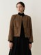 Classic Tweed Jacket_Brown