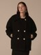 Oversized double half coat - 2colors