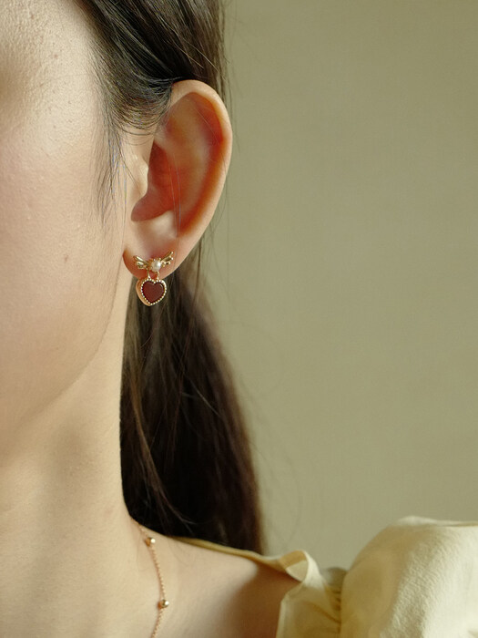 [단독]Lovable Pearl Earring (3COLOR)