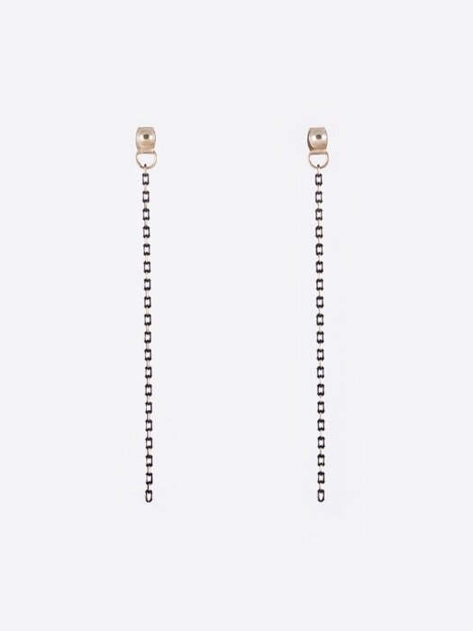 Black Gold Chain `drop` earring