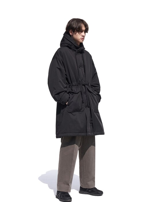 Gathering Parka Blending Coat Black