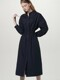 Smocking shirts dress - Navy