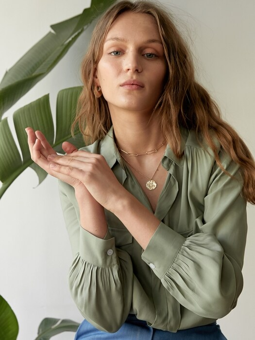 ESTELLA BLOUSE GREEN